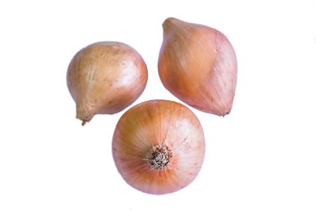cebolla: cebollas aisladas en el fondo blanco