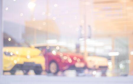 car showroom: blur photo of car showroom Stock Photo
