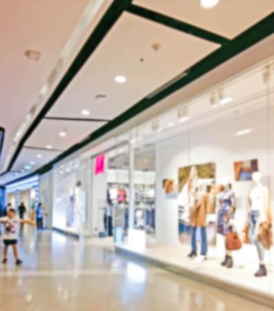 blur photo de focused of shopping center
