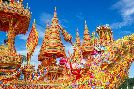tradition: dragging boat at Hat yai, Songkla, famous tradition of Thailand