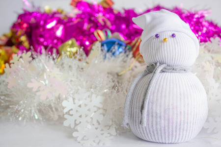 chirstmas: snowman handmade from sock for Chirstmas decoration