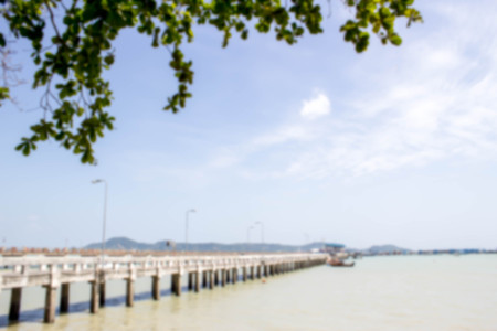 blurred photo of Chalong Bay Pier, Phuket, Thailand in summer