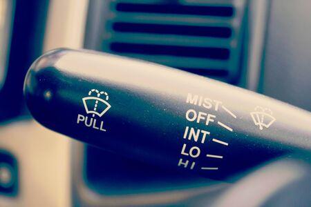 wiper: car wiper control stick in retro filter Stock Photo