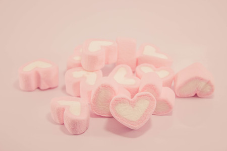 pink wallpaper: pink heart shape marshmallow in pink filter