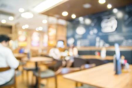 de focused: blur photo de focused of people in  coffee shop Stock Photo