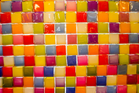 jewish home: abstract photo stack of colorful candle background