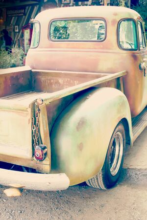 grungy: grungy classic vintage car