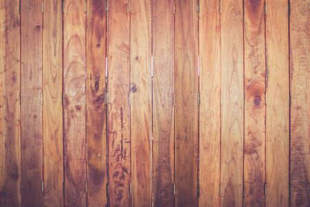 wood panel: old wooden door in Thailand in warm retro filter Stock Photo