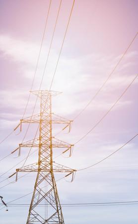 electricity pole: electricity pole in blue sky background