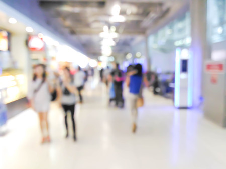 abstract de focused of people at shopping mall : photo for background use Stock Photo