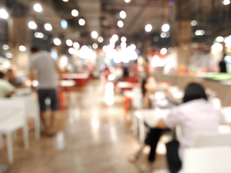 abstract blurred of people in food court : for background use Stock Photo