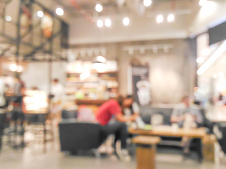 blurred people in coffee shop : for background use
