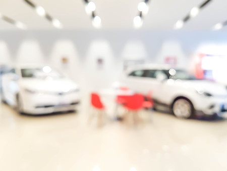 blurred showroom car : for background use Archivio Fotografico