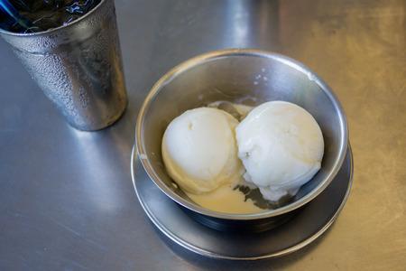 homemade coconut milk ice cream in cup