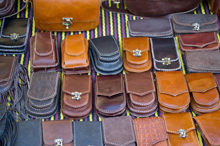 bag, wallet  : men leather accessery selling in shop