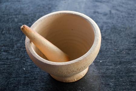 Thai mortar and pestle  retro style