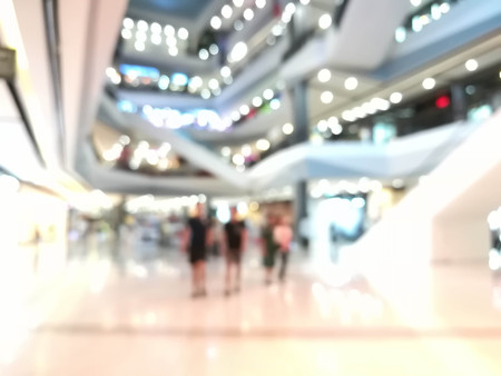 abstract blurred of department store : for background use
