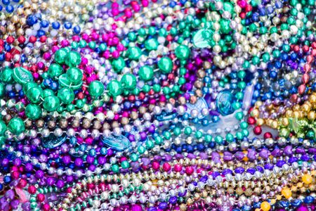 blur pile of colorful neckless background 写真素材