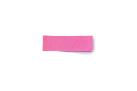 Colored pink sheet of note paper, sticker note, note pad Isolated on white background 写真素材 - 125694824