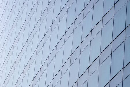 abstract background of mirror on modern  building