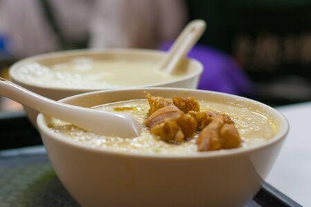 Handmade Chinese deep-fried dough stick and soybean milk