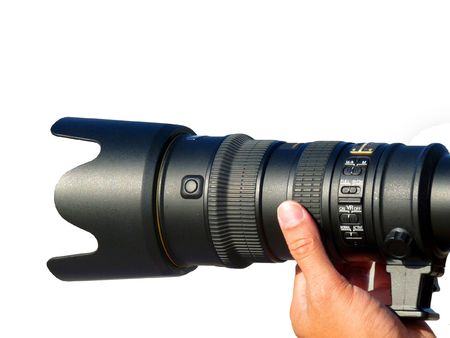 telezoom: Photographer taking Photo with Telephone Lens