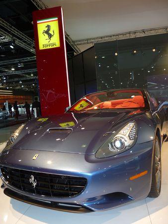 DUBAI, UAE - DECEMBER 19, 2009: Ferrari California on display during Dubai Motor Show 2009 at Dubai Intl Convention and Exhibition Centre