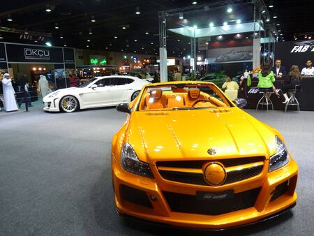 DUBAI, UAE - DECEMBER 19, 2009: Custom Luxury Cars on display during Dubai Motor Show 2009 at Dubai Intl Convention and Exhibition Centre