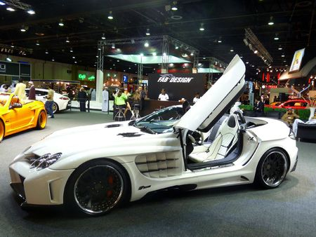 DUBAI, UAE - DECEMBER 19, 2009: Mercedes Luxury Cars on display during Dubai Motor Show 2009 at Dubai Intl Convention and Exhibition Centre