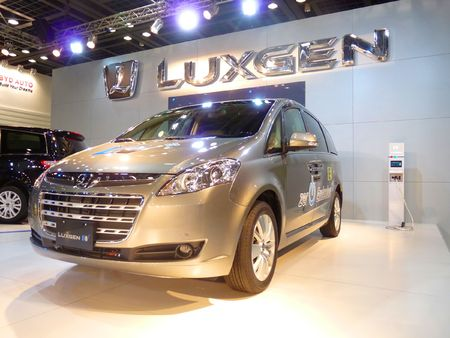 DUBAI, UAE - DECEMBER 19, 2009: Luxgen Vehicle on display during Dubai Motor Show 2009 at Dubai Intl Convention and Exhibition Centre