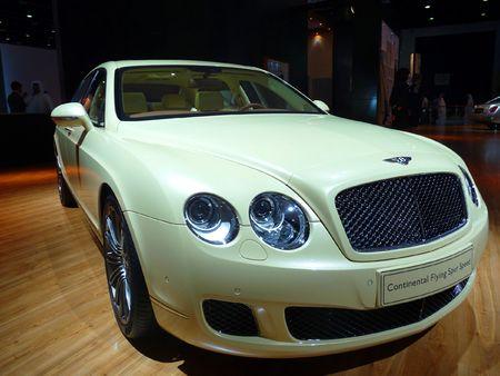 DUBAI, UAE - DECEMBER 19: Bentley Continental on display during Dubai Motor Show 2009 at Dubai Intl Convention and Exhibition Centre