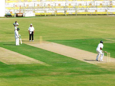 jinnah: SIALKOT, PAKISTAN - OCTOBER 22: Quaid-e-Azam Trophy First Class Cricket Match Played Between Sialkot & Multan Teams at Jinnah Cricket Stadium October 22, 2009 in Sialkot, Pakistan