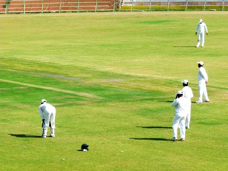 jinnah: SIALKOT, PAKISTAN - OCTOBER 22: Quaid-e-Azam Trophy First Class Cricket Match Played Between Sialkot & Multan Teams at Jinnah Cricket Stadium October 22, 2009 in Sialkot, Pakistan
