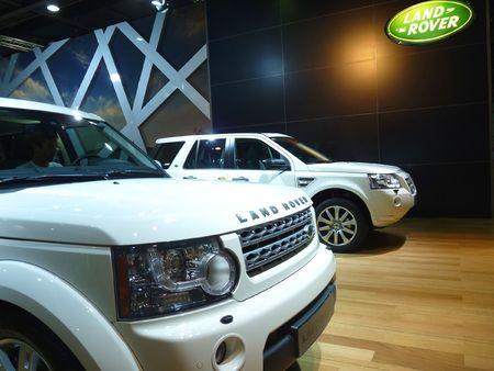 Land Rover SUV on Display at Motorshow Stock Photo - 7358119