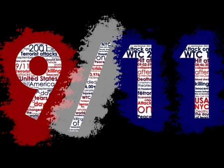 terrorists: September 11, Typographic Illustration