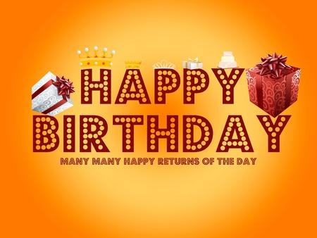 Happy Birthday Card Stock Photo - 8631082