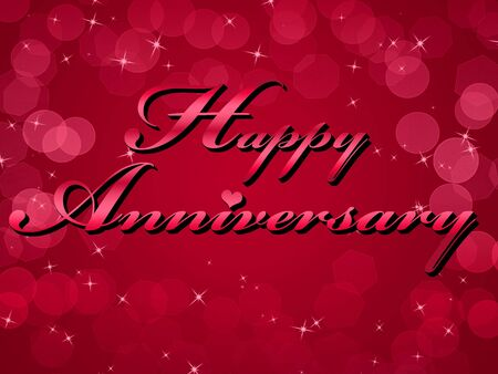 Happy Anniversary Red Background Illustration illustration