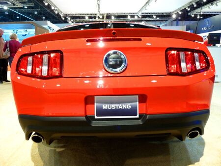 ABU DHABI, UAE - DECEMBER 10: Ford Mustang GT on display during Abu Dhabi Int'l Motor Show 2010 at Abu Dhabi Int'l Exhibition Centre December 10, 2010 in Abu Dhabi,United Arab Emirates. Stock Photo - 9048601