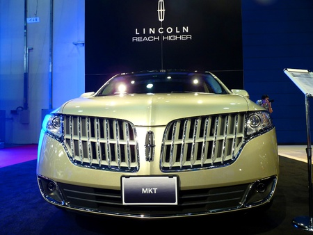ABU DHABI, UAE - DECEMBER 10:Lincoln MKT on display during Abu Dhabi Int'l Motor Show 2010 at Abu Dhabi Int'l Exhibition Centre December 10, 2010 in Abu Dhabi,United Arab Emirates. Stock Photo - 9063082