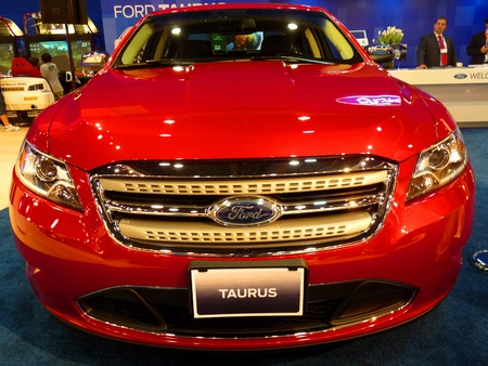 ABU DHABI, UAE - DECEMBER 10:Ford Taurus on display during Abu Dhabi Int'l Motor Show 2010 at Abu Dhabi Int'l Exhibition Centre December 10, 2010 in Abu Dhabi,United Arab Emirates. Stock Photo - 9063023