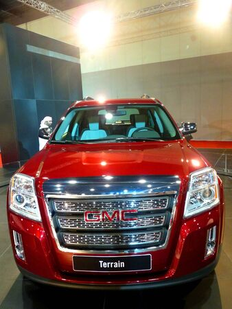 ABU DHABI, UAE - DECEMBER 10:GMC Terrain on display during Abu Dhabi Int'l Motor Show 2010 at Abu Dhabi Int'l Exhibition Centre December 10, 2010 in Abu Dhabi,United Arab Emirates. Stock Photo - 9063009