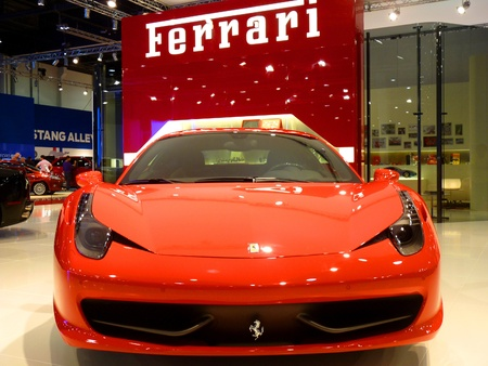 ABU DHABI, UAE - DECEMBER 10: Ferrari 458 Italia on display during Abu Dhabi Int'l Motor Show 2010 at Abu Dhabi Int'l Exhibition Centre December 10, 2010 in Abu Dhabi,United Arab Emirates. Stock Photo - 9073363