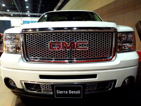 ABU DHABI, UAE - DECEMBER 10:GMC Sierra Denali on display during Abu Dhabi Int'l Motor Show 2010 at Abu Dhabi Int'l Exhibition Centre December 10, 2010 in Abu Dhabi,United Arab Emirates. Stock Photo - 9073616