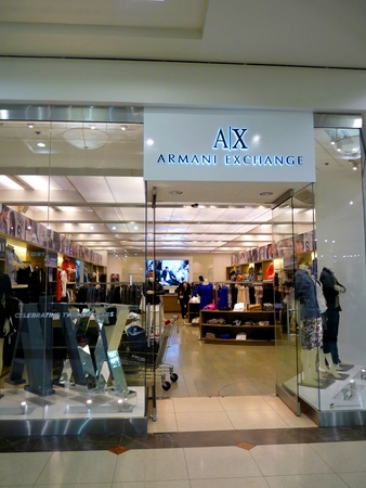 spencer: Dubai - 3 MARCH 2011: Armani Exchange retail store in Deira City Center, Dubai on 03.03.2011.