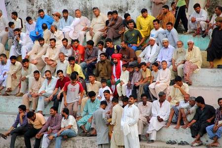 SIALKOT, PAKISTAN - JUNE 17: Crowd Watching Wrestling Competition at Sialkot Memorial Wrestling Match held on June 17, 2011 in Sialkot, Pakistan