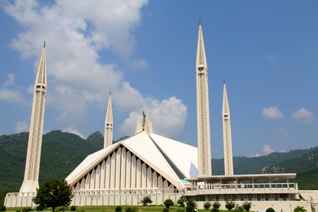 islamic scenery: Mosque in Islamabad Shah Faisial Mosque