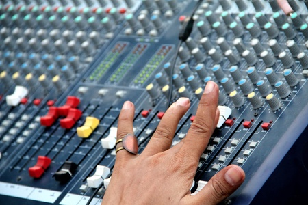 audio mixer: Audio Sound Mixing Stock Photo