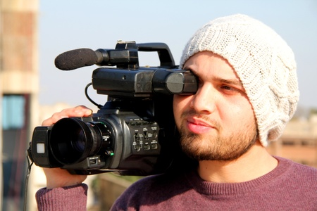 Cameraman Recording Stock Photo - 12979743