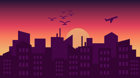 City skyline.Vector illustrations Illustration