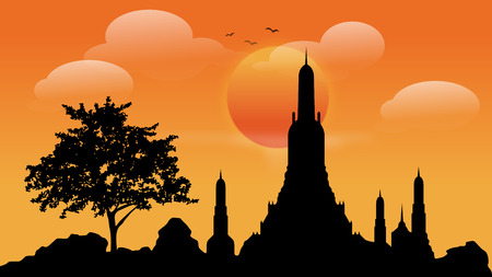 Buddhist Attractions Vector illustrations